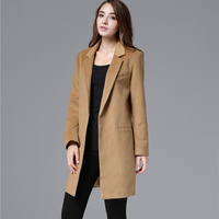 ZADORIN Women Coats And Jackets Winter 2019 Solid Long Sleeve Wool Coat Vintage Runway Black Camel Coat Blazer Mujer Streetwear