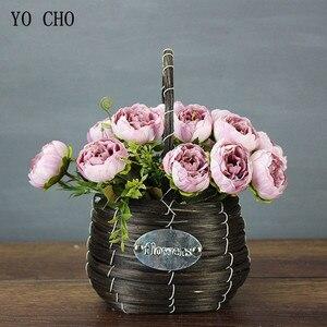 Image 2 - Yo Cho 6 Heads/Boeket Pioenen Kunstbloemen Zijde Pioenen Boeket Wit Roze Bruiloft Woondecoratie Nep Pioen Roos bloem
