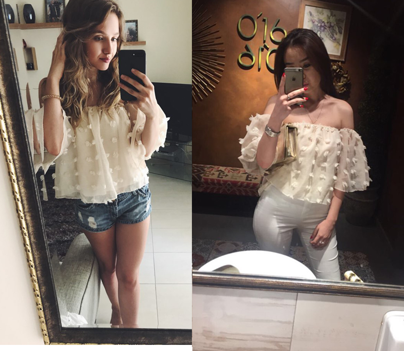 HTB1r YOSXXXXXcGapXXq6xXFXXXe - Sexy Off Shoulder Women Puff Sleeve 3D Floral