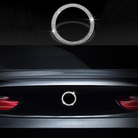 Zinc Alloy Silver Gold Diamond Style Rear Logo Cover Trim For BMW 3 Series F30 F31 13 17 & 4 Series 14 17 & 2 Series 12 17