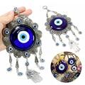 Настенный турецкий синий сглаза цветок Хамса ручной амулет защита декора