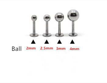 Stainless Steel Ear Barbell 12mm with 2.5mm Ball