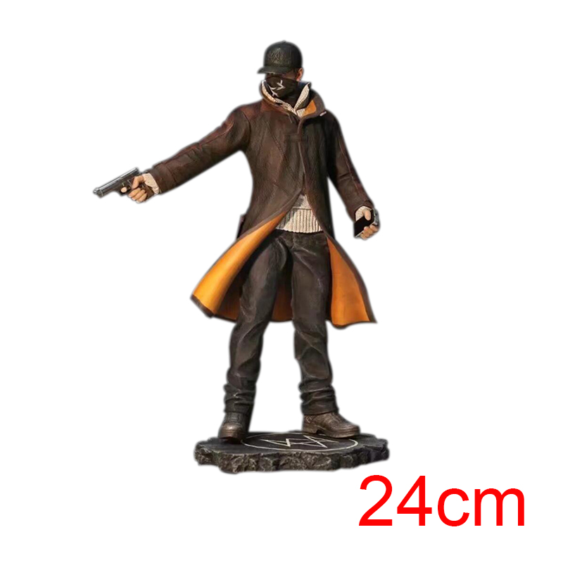 Game Anime Watch Dogs Aiden Pearce Action Figure Model Toy Collection Gift for Boy watch dogs aiden pearce cap costume cosplay watch dogs hat high quality baseball cap