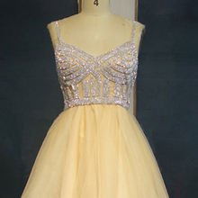 ca37559247666 Buy yellow short prom dress and get free shipping on AliExpress.com