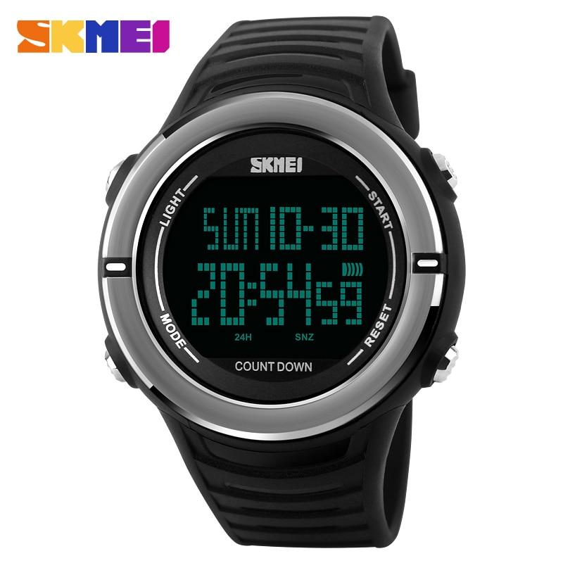 SKMEI ใหม่กีฬานาฬิกาผู้ชายแฟชั่นมัลติฟังก์ชั่ทหารนาฬิกา 50 เมตรกันน้ำนาฬิกาข้อมือดิจิตอลRelógio Masculino 1209