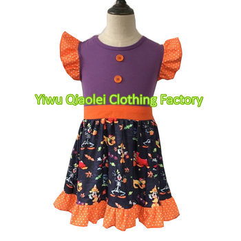 hot sale boutique halloween dress winter and fall kids clothing