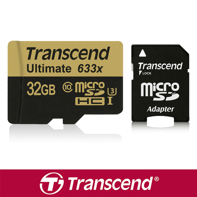 Transcend 633x32 Г 64 ГБ TF Карта microSD Карт Памяти microSDXC SDHC карта 3D видео Для Телефона PAD Tablet GoPro HERO Спорт Камеры