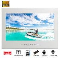 Souria 32 дюймов волшебное зеркало Android роскошный смарт телевизор гостиничный телевизор wifi full HD 1080 P душ светодиодный телевизор рекламные видео