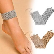 Punk Anklets Exaggerated Feet Decorated Multi-layer Foot Chain Anklet Fashion Alloy Full Crystal Jewelry Anklet C5