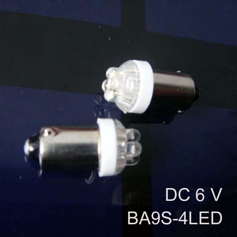 High quality 6v BA9s led Signal lights,BA9s led Instrument lights,DC6.3V BA9s led lights led Pilot lamps free shipping 20pcs/lot