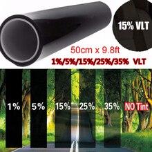 Vehículos/película tintada de ventana de coche 15% negro para ventanas de coche pegatinas de parasol de vidrio