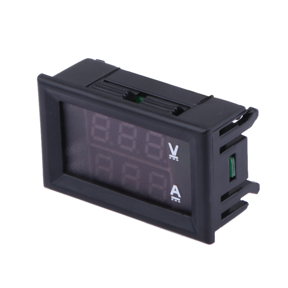 DC 0 100V 0 10A Current Voltage Panel Meter Gauge Tester LCD Display ...