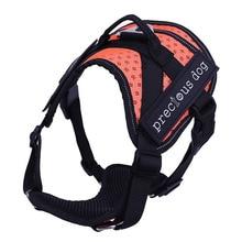 ФОТО high quality soft adjustable protection reflective large pet vest strap medium big dog harnesses vests chest for dog collar