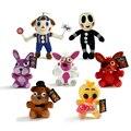 "26 cm Cinco Noites no FNAF 4 Freddy Freddy's Brinquedos Bonnie Chica Foxy Balão Menino Coringa Estátua Figura Stuffed Plush Doll Toy 10"""
