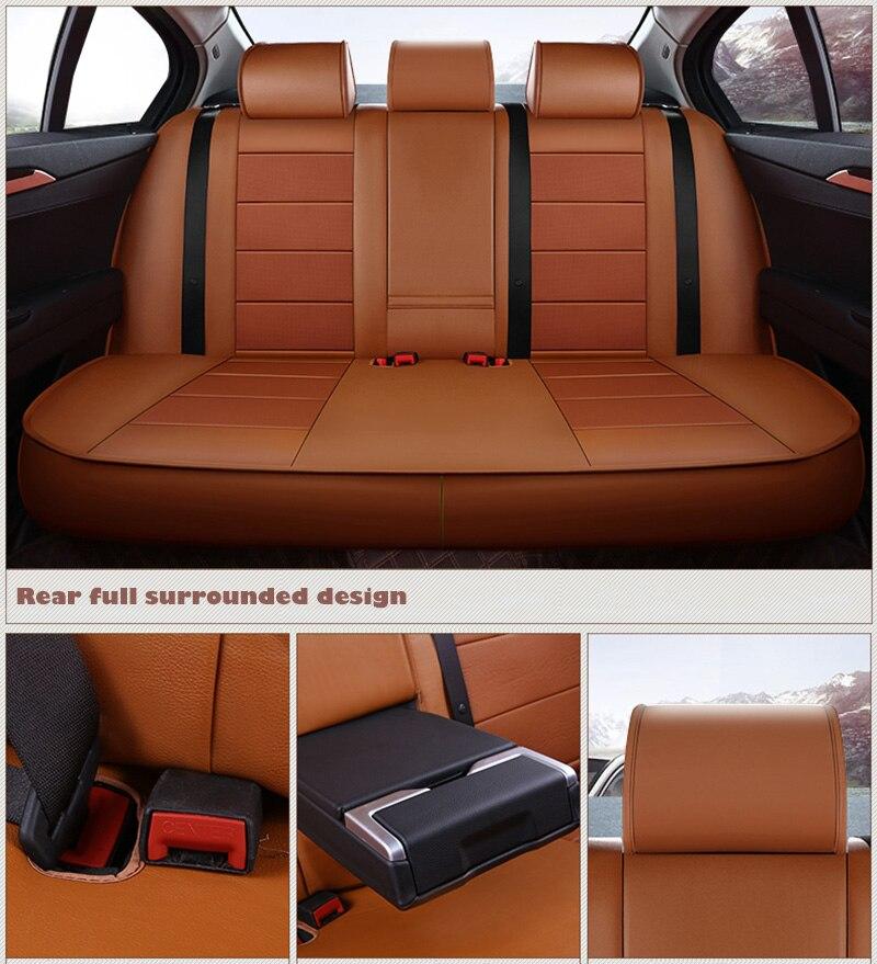 Коровьей пользовательские кожаный чехол автокресла для Volkswagen VW Magotan Golf Tiguan Scirocco Touareg Фаэтон Beetle Caddy Тюнинг автомобилей