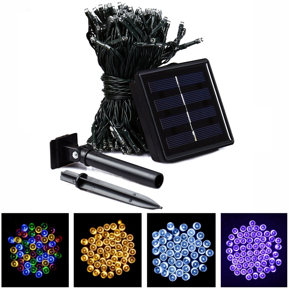 22m 200 led solar strip light outdoor lighting solar led for Garden lights