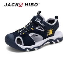 Jackshibo sandálias infantis, botas de verão para crianças, sapatos de pé, praia, antiderrapantes design para crianças