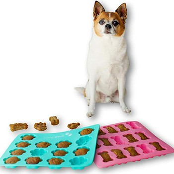 1Pcs Kitchen Cookie Mould Dog Treats Silicone Cake Pan Mold Bone-Shaped and Paw Prints Candy Fondant Biscuits Tools
