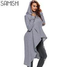 Saimishi 10 Colors Women Long Sleeve Sweatshirts Autumn Ladies Hoodies Fashion Big Pocket Pullover Female Casual