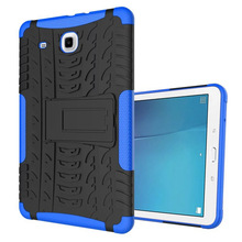 For Samsung Galaxy Tab E 9.6 T560 T561 Case Tire Grain Silicone Heavy Duty Armor Shockproof Hard Case Phone Bag Cover