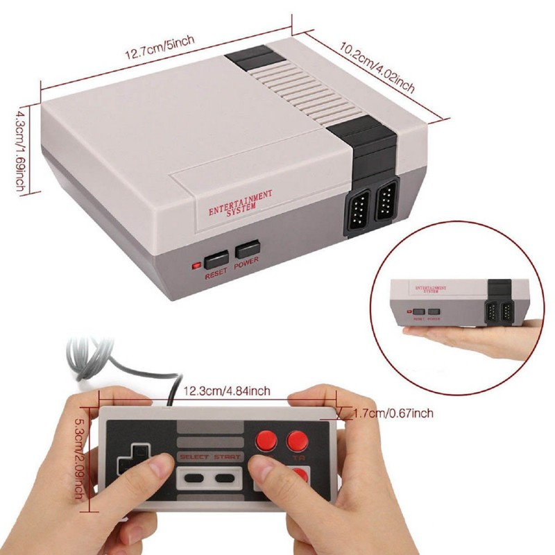 Vintage Retro 620 N/P TV Game Console Classic 620 Built-in Games 2 Gamepad Kids Gift