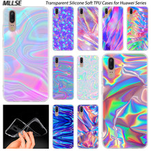Hot rainbow iridescent Silicone Case for Huawei P30 P20 P10 P9 P8 Lite 2017 P30 P20 Pro Mini PSmart 2019 Plus Cover(China)