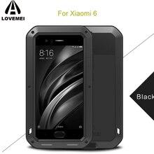 Для Xiaomi mi 6 Водонепроницаемый Чехол LOVEMEI мощный металлический чехол для Xiao mi 6 Xio mi 6 роскошный алюминиевый грязезащитный противоударный чехол
