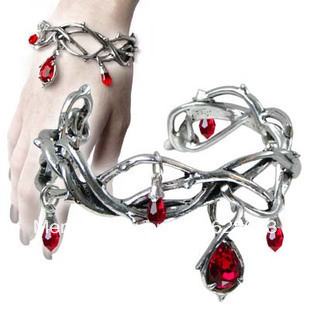 Bleeding Thorns tangled Branch Twisted Vine Knot Bracelet Bloody Tears Bangle Cuff