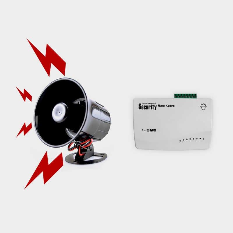 Bocina de sirena de alarma con cable electr/ónico para sistema de seguridad con soporte 110dB DC 12V