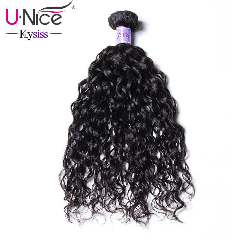 """Волосы UNICE Kysiss серии воды волна 100% человеческих волос девственницы 8-26 """"перуанские пучки волос 1 шт. можно купить 3 или 4 Связки"""