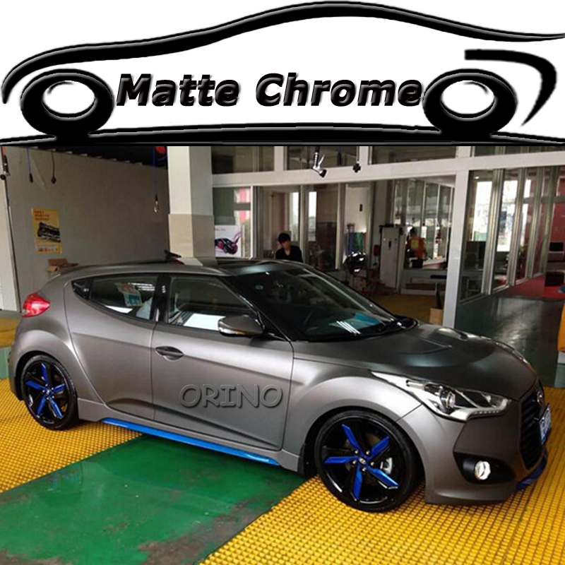 Metallic Matte Dark Gray Chrome Vinyl Wrap Car Styling Motorcycle Truck Matt Wrapping Cover Air Release In Stickers From Automobiles