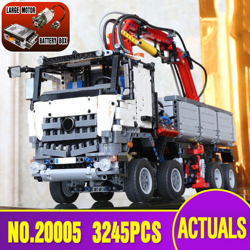 DHL Free shipping DHL 20005 technic series Arocs Model Building blocks Bricks Compatible Toy for Children legoing 42043 model