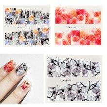 54 piezas 3D deslizador de uñas patrón de aplicación Floral pegatinas de verano adhesivos de manicura adhesivos de uñas decoraciones de arte FD