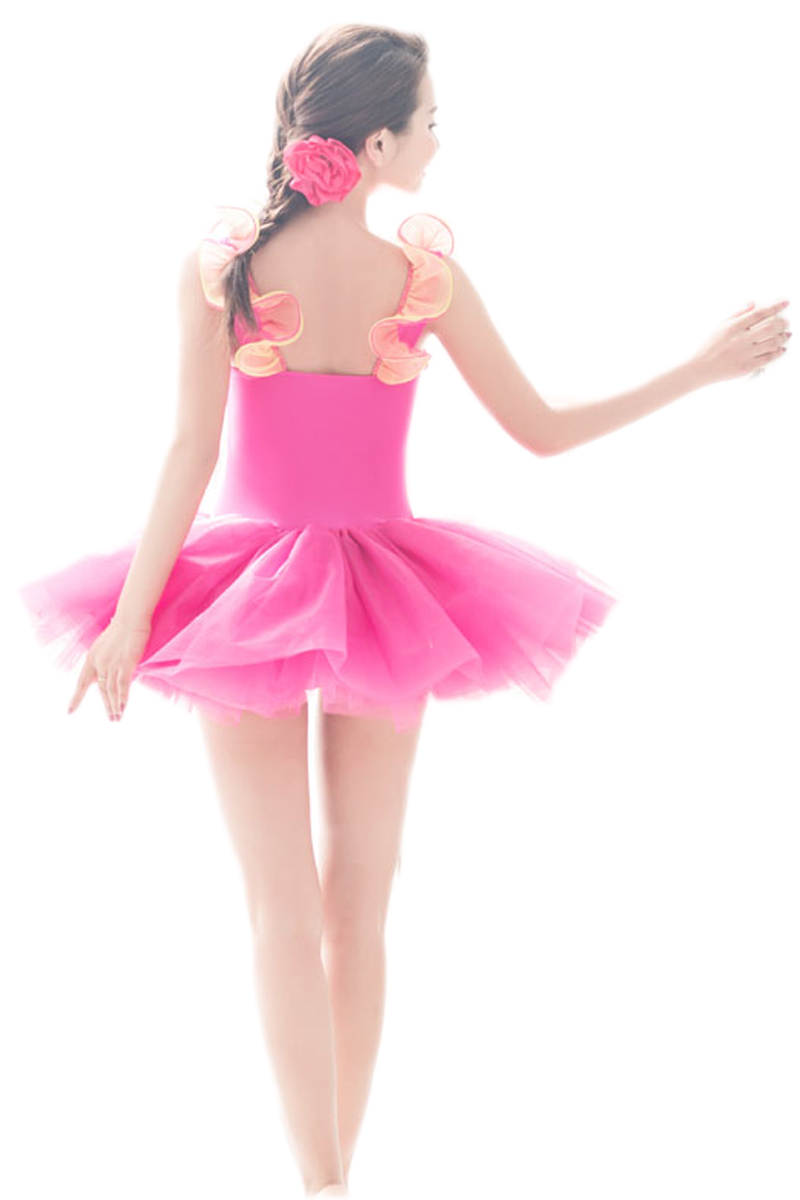 Professional Blue Green Orange Red Pink Dance Costumes For Girls ...