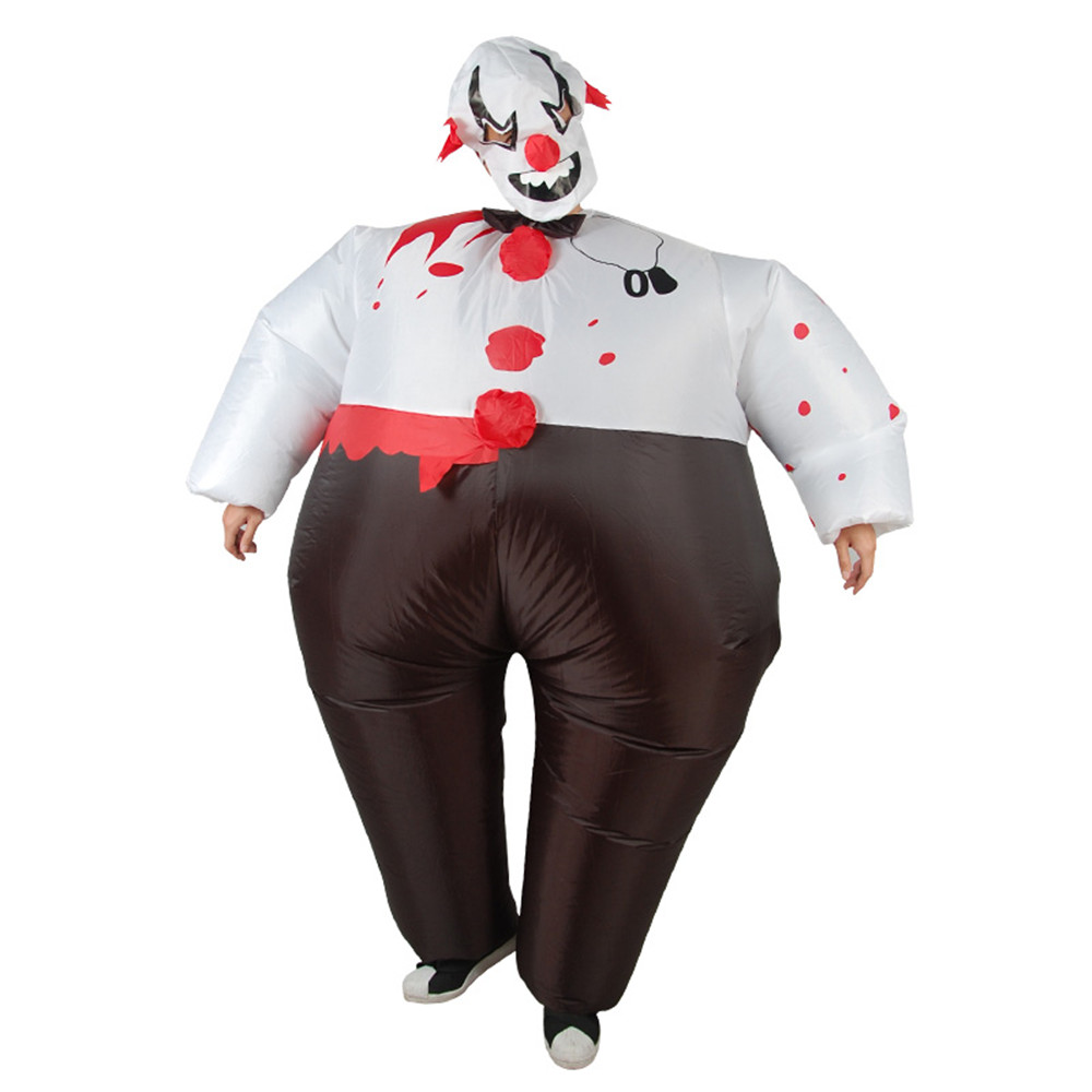 Purim Speckle Sumo Clown Halloween Costume for Kids Adult Cosplay Inflatable Costume disfraz hombre Cosplay men For 1.5m-1.8m