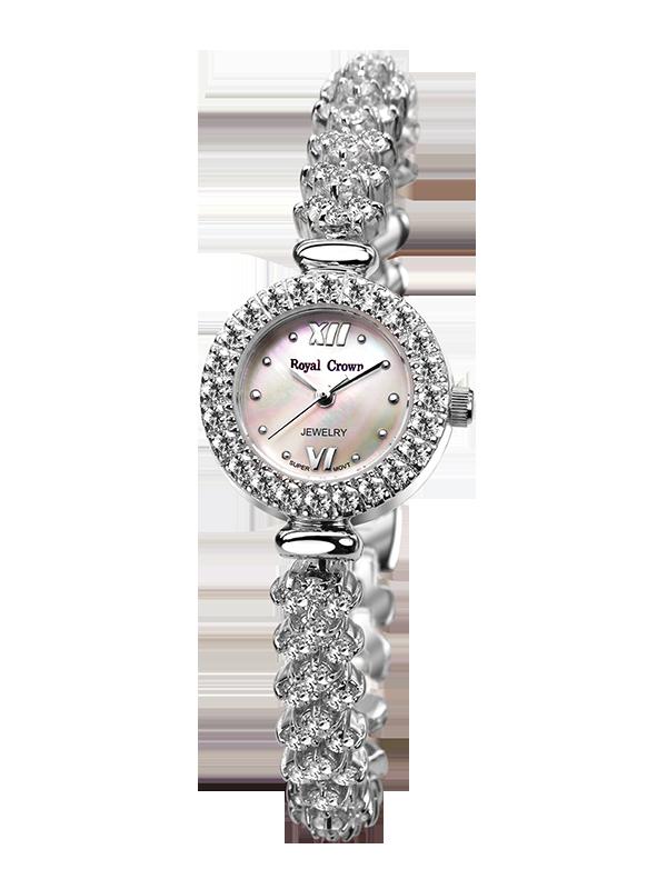 Royal Crown Jewelry Watch 5266B Italy brand Diamond Japan MIYOTA platinum Fashion Ladies South Africa Diamond relogio feminino кольцо royal diamond