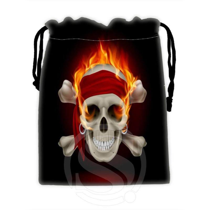 Fashion boutique Custom skull 4 drawstring bags for mobile phone tablet PC packaging Gift Bags18X22cm SQ00715