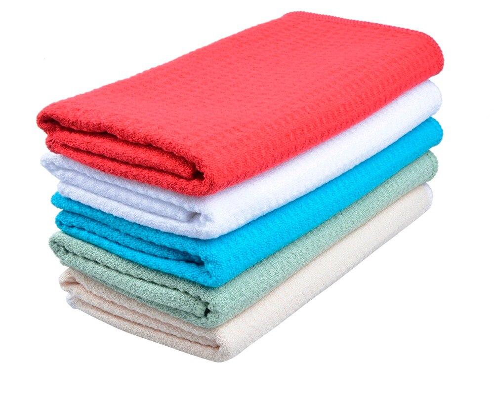 Sinland 주방 마이크로 화이버 와플 직조 손 건조 수건 홈 목욕 수건 초경량 다섯 색상 50 센치 메터 x 100 센치 메터 10 개 / 몫