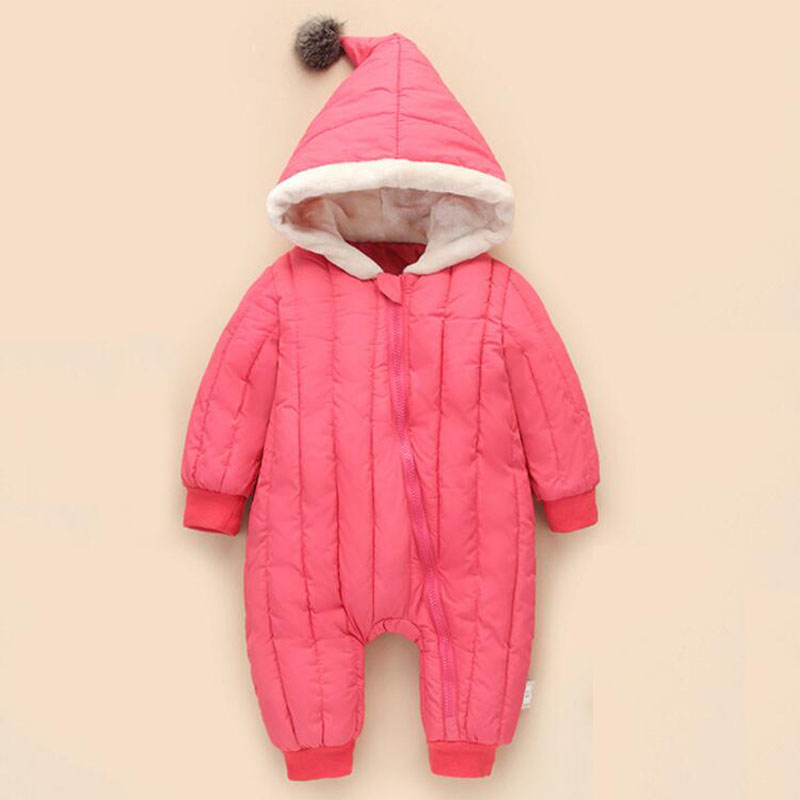 Baby Winter Bodysuits Outerwear Retail Baby One-Pieces Cotton Thick Padded Jacket Kids Parkas Suitable 0-18 Month Baby