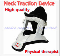 Free shipping High quality neck traction therapy device medical Cervical traction neck support Neck spine brace pain relief