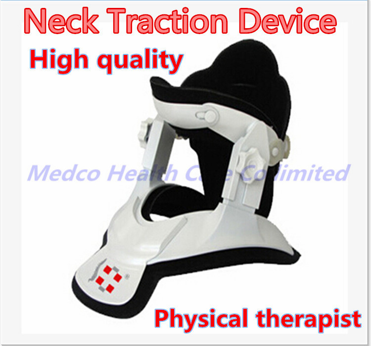 Free shipping High quality neck traction therapy device medical Cervical traction neck support Neck spine brace pain relief high quality family neck cervical traction apparatus fixed tension air pillow neck hung holder support around the neck