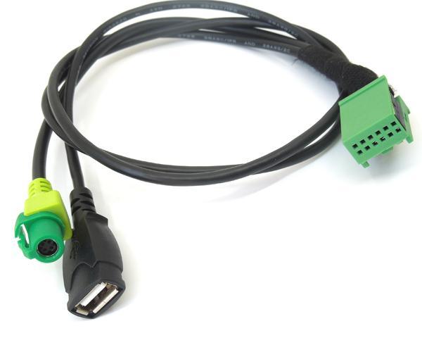 Music AMI USB interface Aux cable For Audi MMI 3G Navigation Q5 A6L A4L Q7 A5 S5(China)