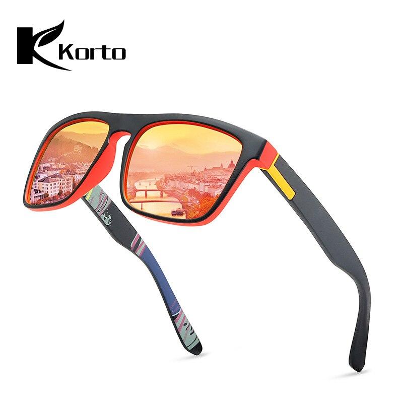 Korto Brand Design Polarized Sunglasses Men Driver Shades Male Vintage Sun Glasses For Men Spuare Mirror Summer UV400 Oculos in Men 39 s Sunglasses from Apparel Accessories