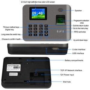 Image 5 - 2.4 بوصة تتفاعل tcp/ip/USB البيومترية بصمة آلة الحضور الوقت فنجر طباعة الوقت على مدار الساعة مسجل التعرف على الموظف