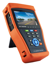 4.3 inch five in one CCTV tester monitor analog IP TVI CVI AHD camera testing onvif 1080p PTZ control POE test 12V output