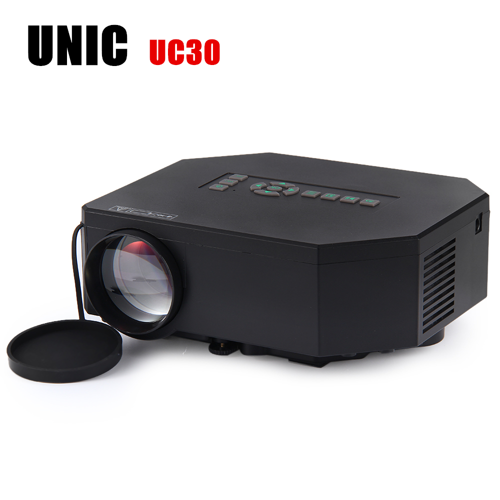 UC30 Mini LED Projector 150 lumens 640 x 480 Pixels Portable Multimedia Home Theater Projector with USB SD VGA HDMI AV Port gp802a mini portable led projector 200 lumens 480 320 pixels contrast ratio 600 1 with hdmi vga usb av tv sd port home theater