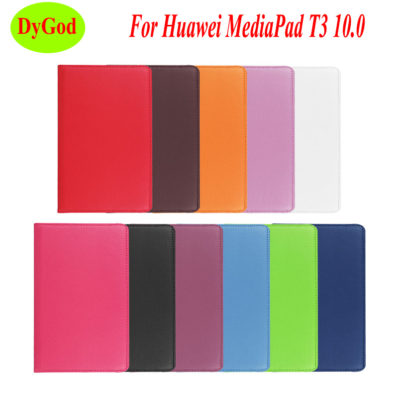 Computer & Office Tablet Accessories Dygod For Huawei Mediapad T3 10 Ags-l09 Ags-l03 Tablet Case 360 Rotating Bracket Flip Stand Anti-shock Leather Cover Cheap Sales