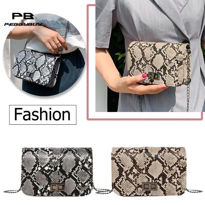 Snake Print Women Shoulder Bag Luxury Handbags Women Bags Designer Luxury Wild Girls Small Square Messenger Bag Bolsa Feminina