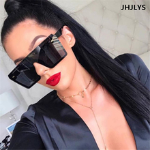 JHJLYS flat top sunglasses female oversized 2019 luxury