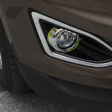 Free Shipping High Quality ABS Chrome Front Fog lamps cover Trim Fog lamp shade Trim For Ford EDGE lettuce edge trim button front ribbed dress